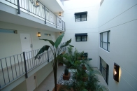 The inner atrium of our hotel.